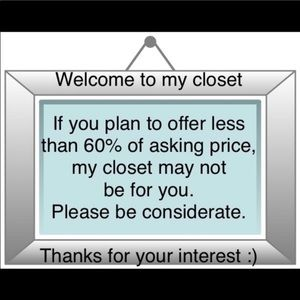 I accept REASONABLE offers